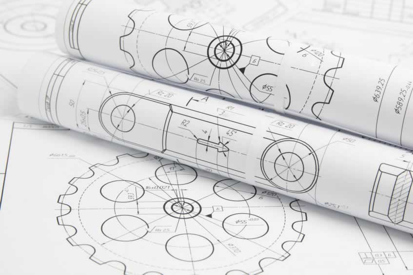 engineering drawings of mechanisms and machine